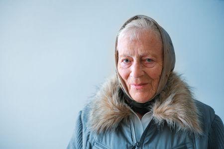 Portrait of a senior woman contemplating. photo
