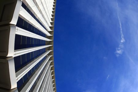 Corporate building, low angle view. Plenty of copy-space provided. Stock Photo - 2483545
