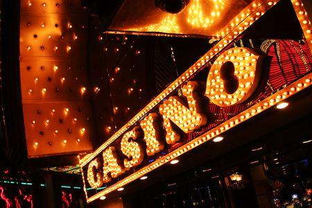 Neon casino sign. Las Vegas, Nevada, USA. Stock Photo