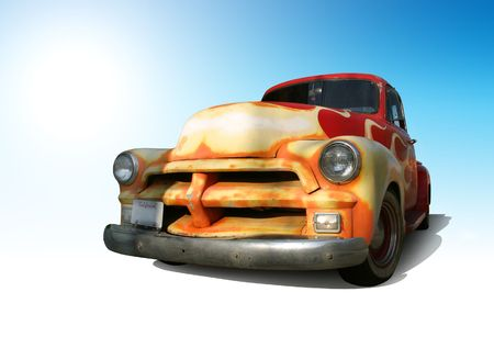 Funky Vintage American Truck. photo