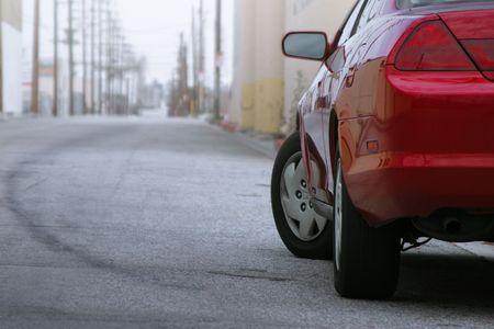 Red car detail photo