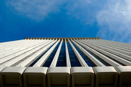 Office building rising to the sky. Plenty of copy-space provided. Stock Photo - 2483629