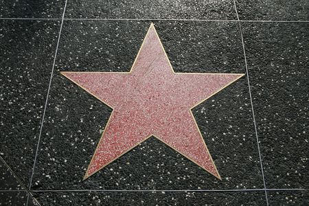 famous industries: Empty star on the Hollywood Walk Of Fame, California, USA