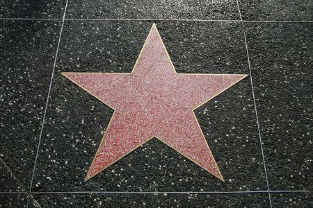 Lege ster op de Hollywood Walk of Fame, Californië, Verenigde Staten