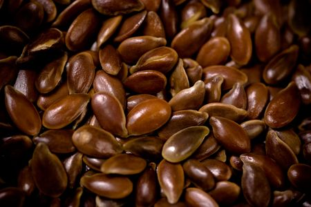 Flax Seeds Close-Up. photo