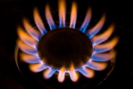 butane: Gas Fire Close-Up Stock Photo