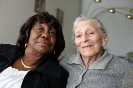 Senior women friends Stockfoto