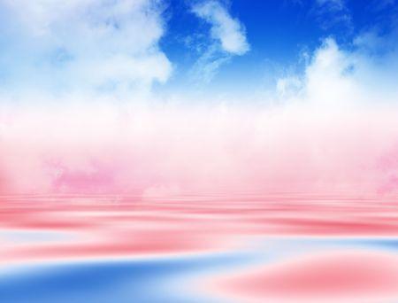 Abstract blue water background Фото со стока