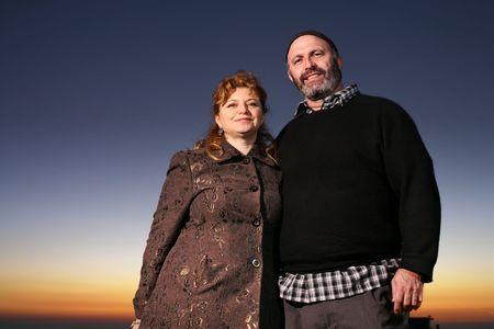 Portrait of happy jewish mature couple outdoors Stock Photo - 2751945