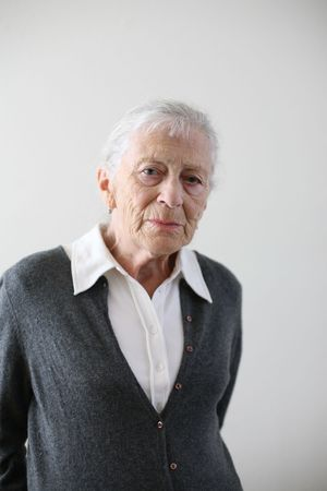 grey haired: Portrait of a senior woman