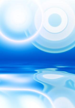 抽象的な青い反射背景