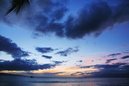 Scenic sunset in Hawaii Stock Photo - 4238075