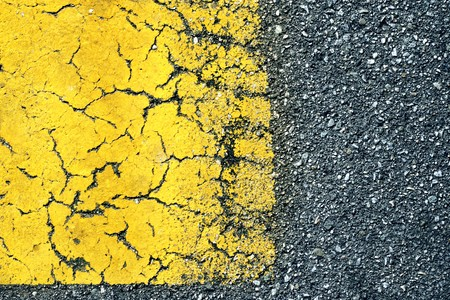 Abstract background: old paint on asphalt road, macro detail Stock Photo - 4238237