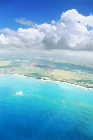 Aerial view of Maui island in Hawaii Stock Photo - 4238118