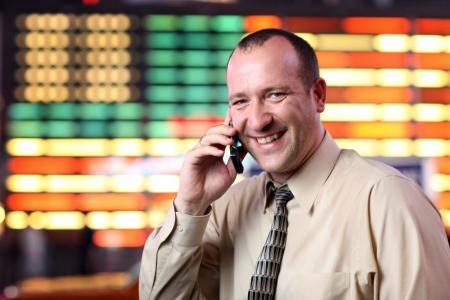 American businessman talking on cell phone photo