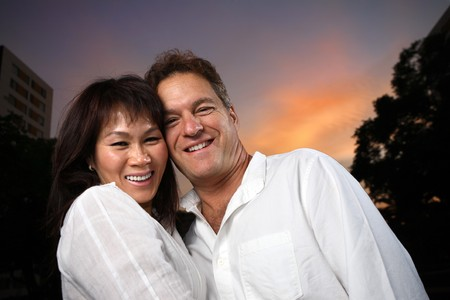A portrait of mid-adult couple in love photo
