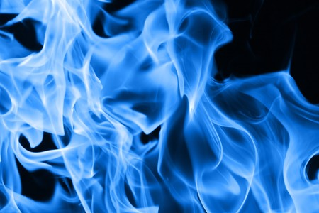 Blue flames of fire background texture Stock Photo