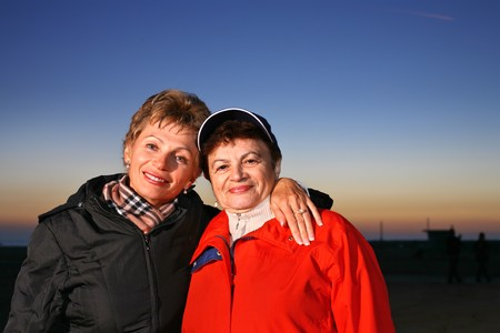 Mother and daughter together outdoors Stock Photo - 4320275