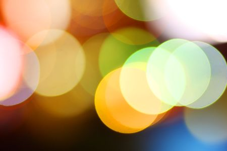 Abstract background of colorful bokeh circles photo