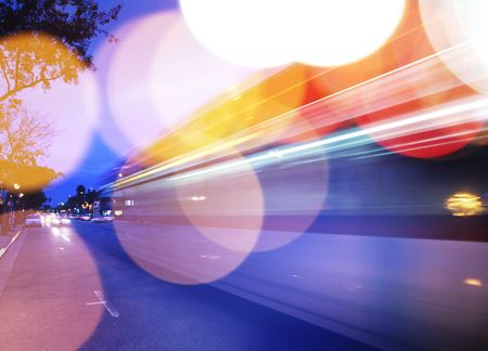 rounds: Traffic background. Blurred motion, shalow DOF.