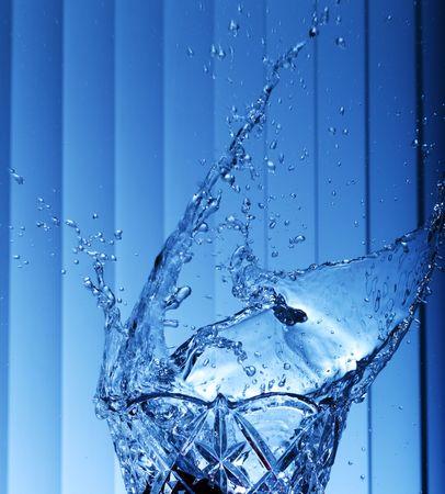 Water splash close-up. Shallow DOF.