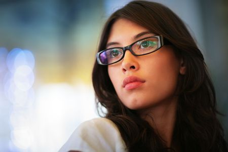 Portrait of a beautiful young asian woman. Shallow DOF.