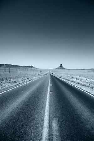 Highway leading to the horizon. photo