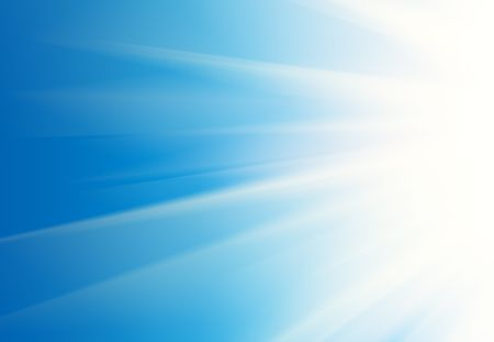Abstract white rays over blue sky background. photo