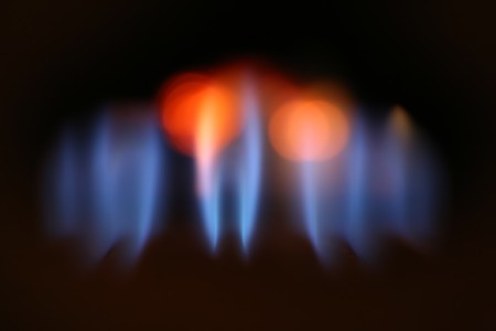 Abstract background of blurred gas flames  photo