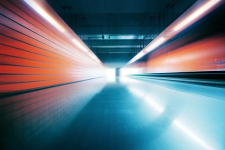 広角視野インテリア産業トンネル内。