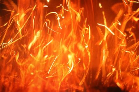 funken: Hot blazing Fire abstract background