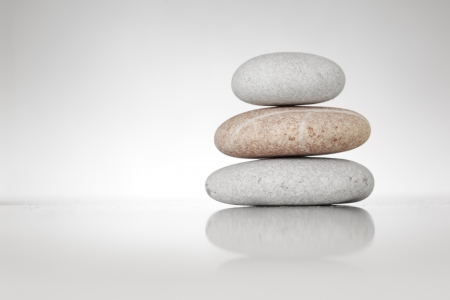 Stack of zen stones on white background Zdjęcie Seryjne