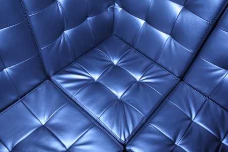 Luxury blue leather upholstery background