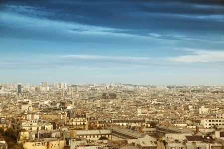 Paris cityscape panorama, view from Montmartre  Stock Photo