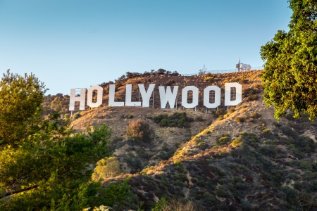 HOLLYWOOD CALIFORNIA - SEPTEMBER 24  The world famous landmark Hollywood Sign on September 24, 2012 in Los Angeles, California  Editorial