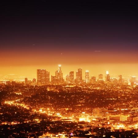 Los Angeles illuminated at night