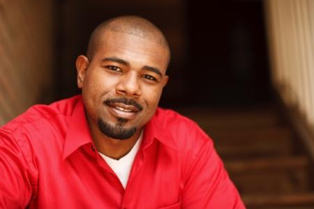 Portrait of a happy African American man Standard-Bild