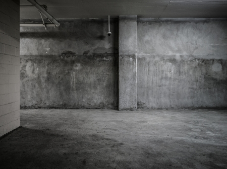 Empty wall concrete room interior