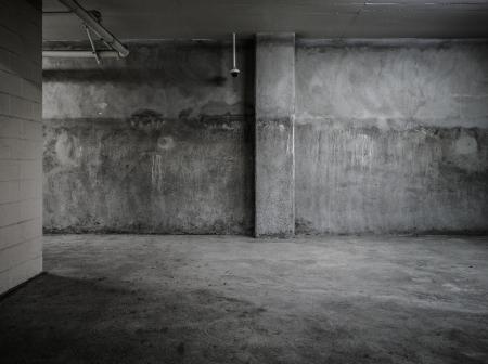 Empty wall concrete room interior