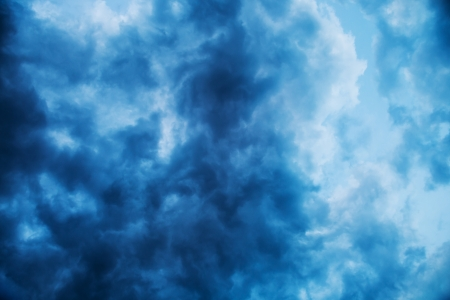Stormy blue clouds texture background photo
