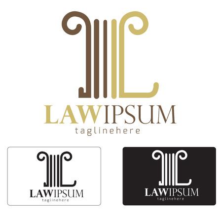 DERECHO: Creativo concepto icono símbolo ilustración Icono ley.