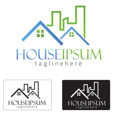 real estate house: vector house Icon for company isolated identity Illustration