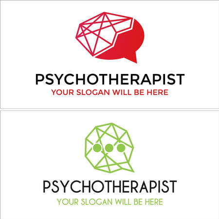 Psychotherapist health mental design logo
