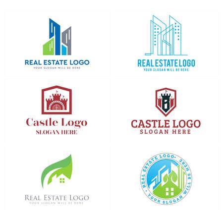 Real estate building castle eco friendly logo design Logo