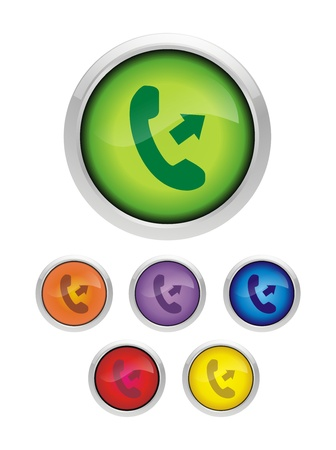 Phone Icon Call Us Fresh Stock Photo - 11119923