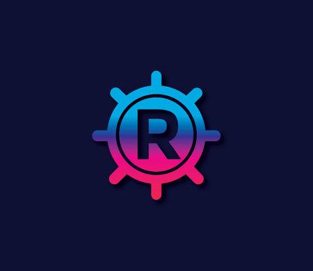 R Alphabet Locker Logo Design Concept