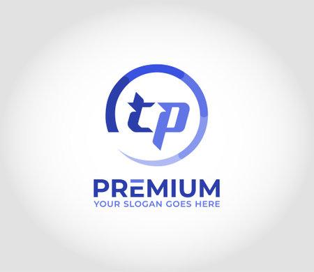 TP Modern Logo Design Concept Logó
