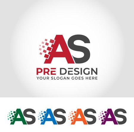 AS Alphabet Creative Logo Design Concept Logo