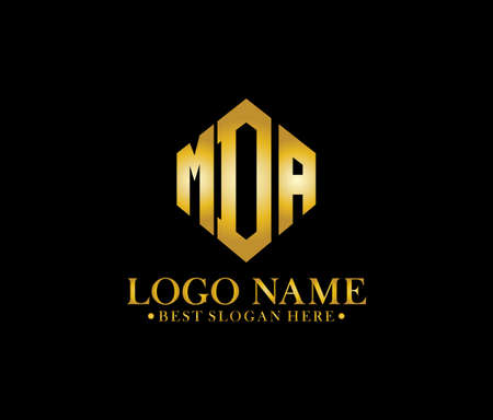 MDA Diamond Alphabet Logo Design Concept Logo