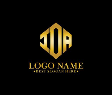 IDA Diamond Alphabet Logo Design Concept Ilustração